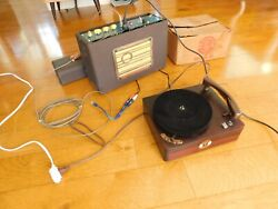 Vtg Record Player Columbia 3 Speed Magnavox Tube Amp Restored Watch It Play