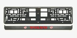 European License Number Plate Frame Holder Surround Carbon Look For Volvo Cars