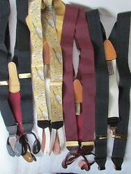 Lot Of 4 Nwot Coach And Trafalgar Suspenders Braces Button Clip Limited Ed Leather