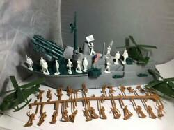 Mpc-navy 15in Missile Frigate W/marines Multi-scale Plastic Army Men Playset