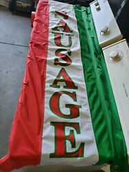 Sausage Flags 2x5 Real Carnival Type Flags For Concession Trailers And Truck