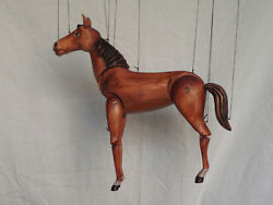 Horse - Wooden Marionette,13 Inches Tall, Handmade From Czech Republic