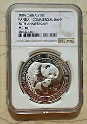 Gold Coin Silver Antique Coins Ngcms70 China 20041 Oz Panda Industrial And