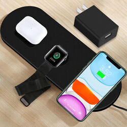 3in1 Phone/watch/earphone Qi Wireless Charger For Samsung Galaxy S8 Active G892a