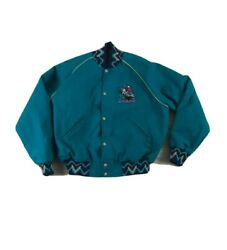 Vintage Clark County Fair Rodeo Jacket Made In The Usa Size Xl 1980's Teal Green