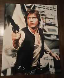 Harrison Ford Signed Star Wars Han Solo Autograph 16x20 / K9 Holo Proof