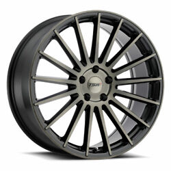 19x8.5 Tsw Luco Matte Black W/machine Face And Tint Wheels 5x112 42mm Set Of 4