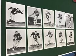 Vintage 1960's Green Bay Packers Team Issued Glossy Photos