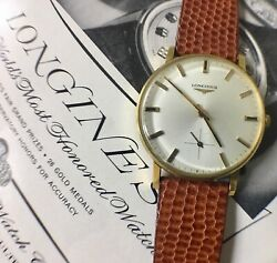 Solid 18k Gold Longines Vintage Watch Very Clean All Original 1960s Sub Seconds