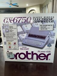 Brother Gx-6750 Electronic Typewriter Rare New In Box