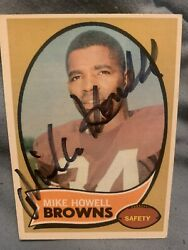 1970 Topps Mike Howell Signed Autograph 91 Cleveland Browns Safety Rookie Card