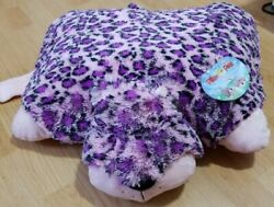 Pillow Pets Large Purple And Pink Leopard 18quot; With Tags.