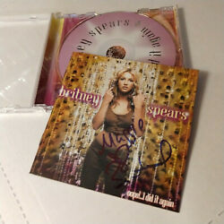 Britney Spears Signed Cd Oops I Did It Again Autographed
