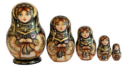 Mini Russian Nesting Dolls Stacking Emboîtables Matryoshka Painted At Hand By
