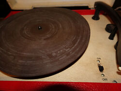 Vtg Red White 1950s Vm 205 The Voice Of Music Record Player Turntable To Restore