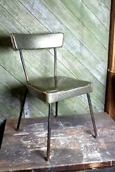 Vintage 1970s Green Sparkly Metal Flake Chair Old Home Decor