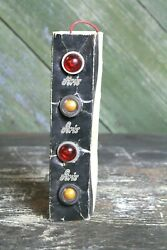 Vintage Aris Red And Amber Colored Marker Lights, Nos Old Car Motorcycle Part