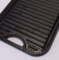Lodge Pro Grid Reversible Cast Iron Grill Griddle Combo Pg12 Usa 20 By 10.5