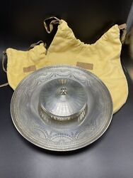 And Co. Rare Antique Sterling Silver Caviar Dish And Underplate Server