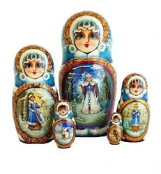 Russian Nesting Dolls Stacking Small Painted By Prokhorova - Fairytale Popular
