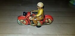 Schuco Tin Toy Motorcycle Vintage - Charly 1005 - Clockwork Wind-up