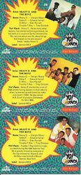Heavy D. And The Boyz 3 Trading Cards From Yo Mtv Raps Proset Musicards 1991