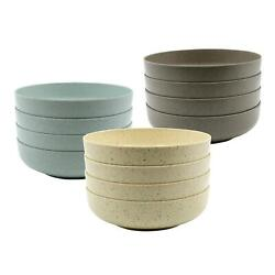 Bamboo Fiber And Recycled Coffee Ground Bowls 4 Pack Natural Materials