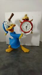 Extremely Rare Walt Disney Donald Duck Angry At Alarm Clock Fig Statue In Box