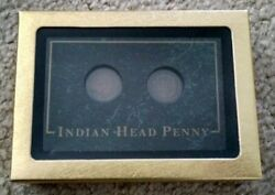 Sale Reduced1905 And 1906 Indian Head Penny 2 Coin Set Collectors In Green Case