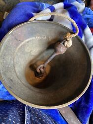Vintage Large Heavy Ship Brass Bronze Bell Marked Military Scramble Bell Britain