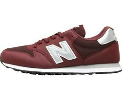 New Balance 500 Classic Eva Menand039s Burgundy Silver Synthetic Lace-up Sneakers