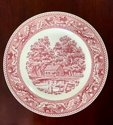 1965 Memory Lane Royal Ironstone Dinner Plate, Royal China, Made In The Usa