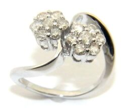 Ladies Womenand039s 18carat 18ct White Gold And Diamond Ring Size O