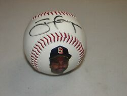 Tony Gwynn Autographed Baseball Fotoball Authenticated Padres