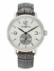 Bell And Ross Ww1 Hand-winding 41mm Argentium Menand039s Watch Brww1-me-ag-op/scr