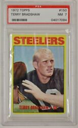 1972 Topps Terry Bradshaw Psa 7 Pittsburgh Steelers 2nd Year Card