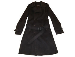 Black Label Gray Wool Cashmere Italy Officers Coat Small 2600
