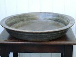 17th Century Large Walnut Bowl Oval Beehive Wooden Dough Bowl French 1600s