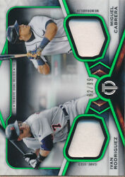 2021 Topps Tribute Dual Player Relics Green Dr2rc Miguel Cabrera/i Rodriguez/99