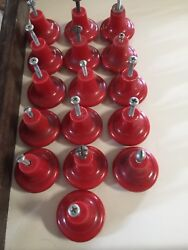 Vintage 1950and039s Lucite / Plastic Door Knob Drawer Pulls Cabinet 15 Red