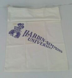 Vintage Nos Hardin Simmons University Laundry Bag Cowboy With Guns And Price Tag