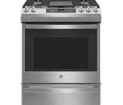Ge Stainless Steel 30 Gas Range W/ 5 Burners, 5.6 Cu. Ft. Oven Jgs760spss