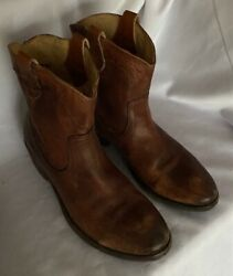 Frye FREE SHIP Women Boot Lindsay Short Size 9 Brown Leather Pre Owned Classy $65.00