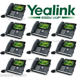 Yealink 10 Pack Set Sip-t48s Color 7 Touch Gigabit Ip Phone 16 Line Voip Office