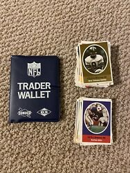 1972 Sunoco Nfl Trader Wallet And 128 Player Stamps Free Shipping