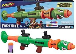 Nerf Fortnite Rl Blaster Fire Foam Rocket Ages 8+ Toy Play Fight Video Game Gift