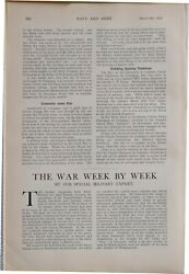 1915 Ww1 Article And Pics Navy And Army War News Editorial Barricaded Door Diagram