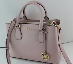 New Authentic Camille Blossom Pink Md Satchel Leather Women Handbag