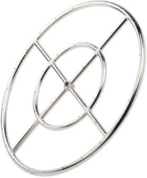 Round Fire Pit Burner Ring 304 Series Stainless Steel Btu 92000 Max Outdoor 12in