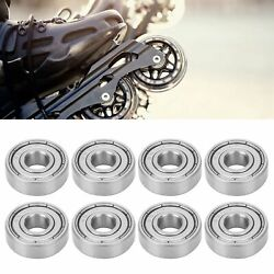 New 10pcs S608z Stainless Steel Ball Bearings For Longboards Roller Skates Parts
